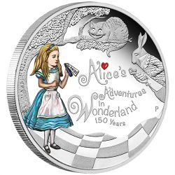 150th Anniversary of Alice's Adventures in Wonderland 2015 1oz Silver Proof Coin http://www.perthmint.com.au/catalogue/150th-anniversary-of-alices-adventures-in-wonderland-2015-1oz-silver-proof-coin.aspx