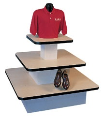 Maple and Black Square 3-Tier Table Only $250.00