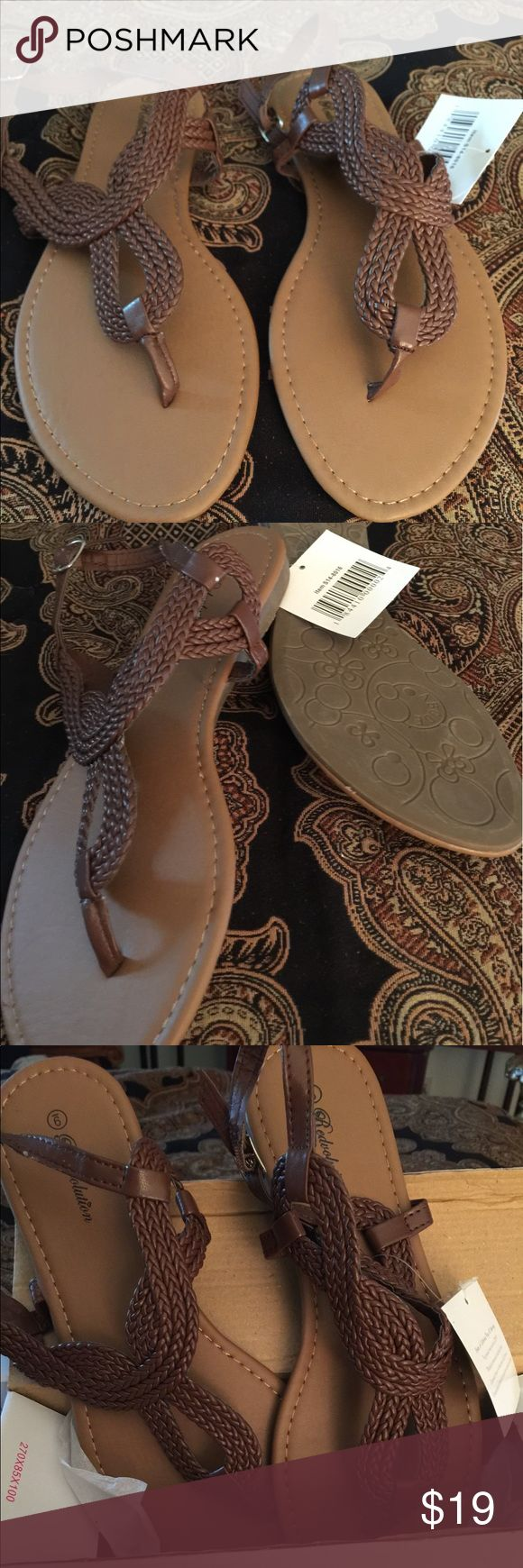 Gladiator Flat Sandals with T strap... size 9 Gladiator Flat Sandal T-Strap ...size 9.. durable TPR outsole with soft PU insole...braided upper t strap...runs true to size... Shoes Sandals