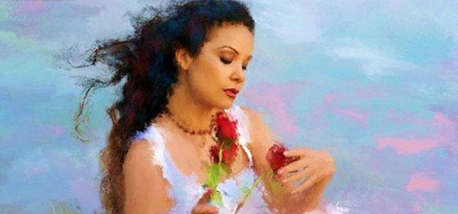 Iubirea ta a pictat un tablou in inima mea, iar destinul meu se afla in umbra buclelor tale.