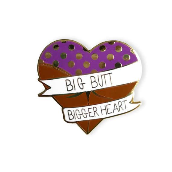 Big Butt Bigger Heart Enamel Pin Brown  Michael Scott The