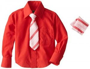 American Exchange Baby-Boys Infant Dress Shirt with Tie and Pocket Square