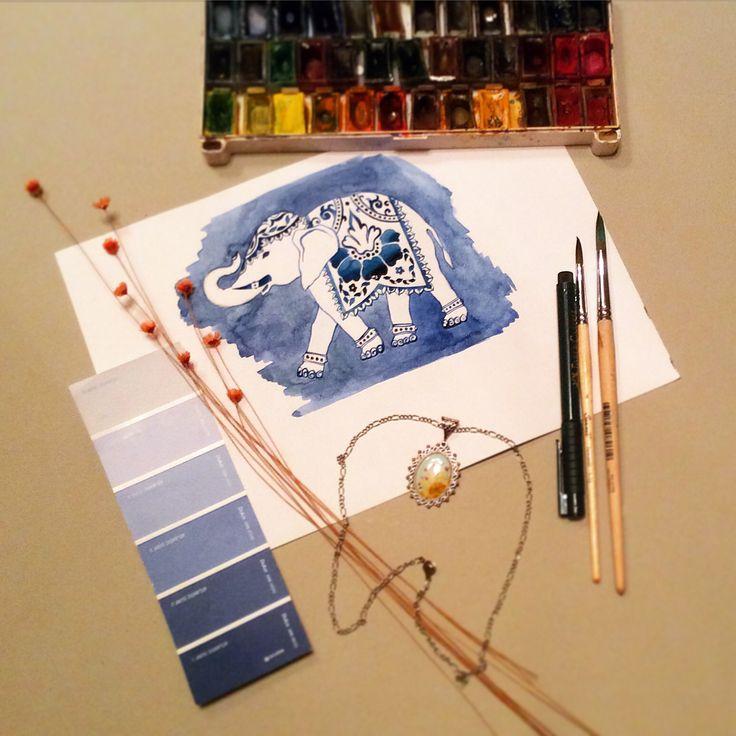 #Elephant #watercolor #sketch