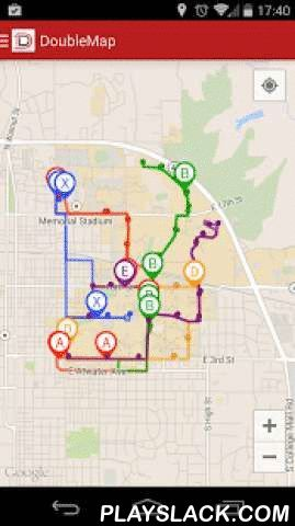 DoubleMap GPS  Android App - playslack.com ,  DoubleMap is a real-time GPS bus tracking system.DoubleMap allows riders to track the exact location of a bus in real time for your city. We know how busy your day is. Don't waste a minute of it waiting at a bus stop.Android app features:- View buses in real time on the map- View specific routes and associated stops- View your current location if GPS is enabled- View current bus system related announcements such as delays and re-routing- Made…