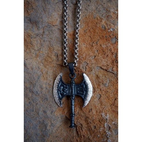 hatchet necklaces, silver necklaces, men's jewelry