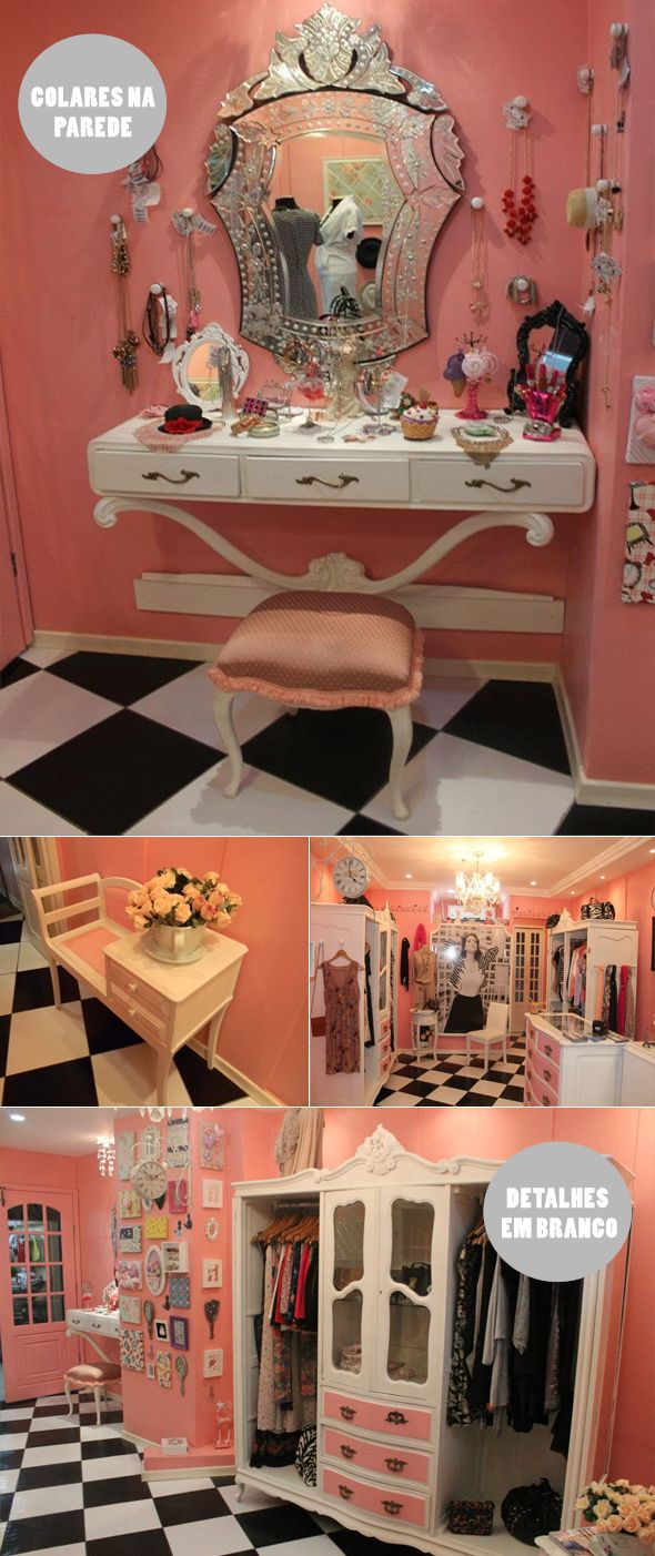 a little much - but really cute ideas for a girls room
