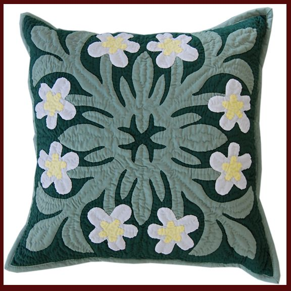 White Plumeria PIllow Slips www.dbihawaii.com