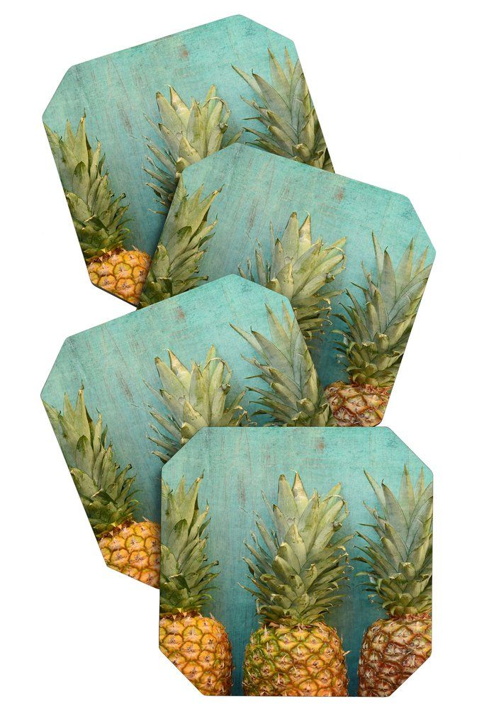 Olivia St Claire Tropical Coaster Set | DENY Designs Home Accessories,  pineapple coaster set, gift