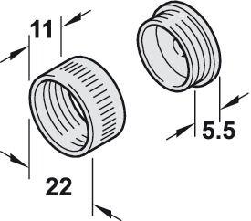 Kastroededrager, voor kastroede rond Ø 20 mm - in de Häfele België Shop
