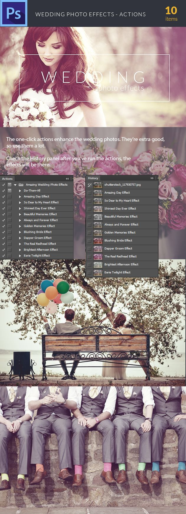 The Wedding Photo Effect Photoshop Action can be found here: https://www.inkydeals.com/deal/1000-photoshop-resources-bundle/