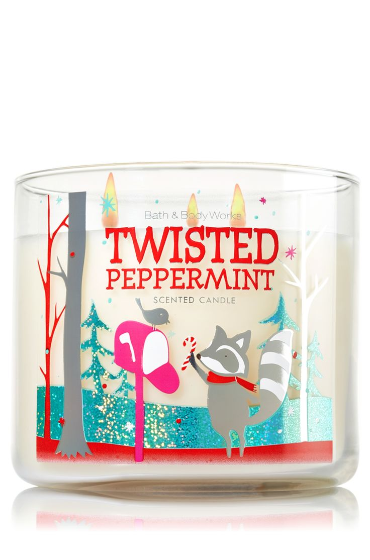 Bath and body works holiday scents - Twisted Peppermint 3 Wick Candle Home Fragrance 1037181 Bath Body Works