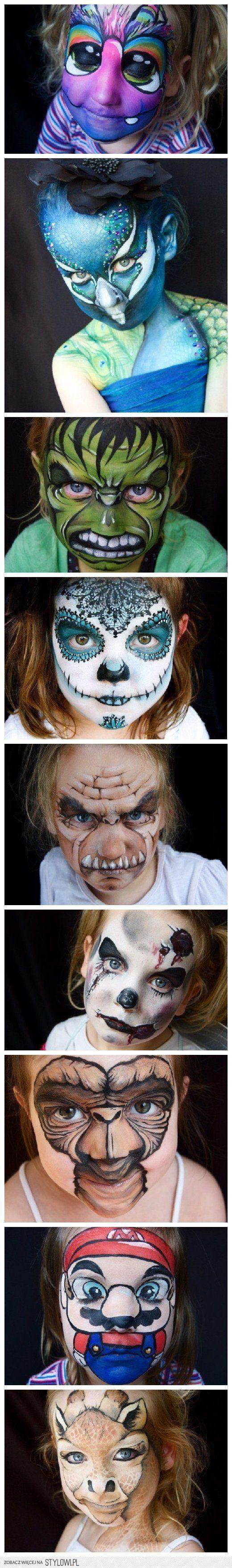 Sehr toll geschminkte Kindergesichter!