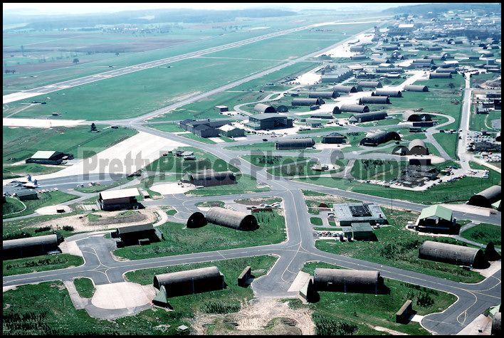 Bitburg AB Germany   ... the aircraft shelters and hangars on the Bitburg Air Base in Germany