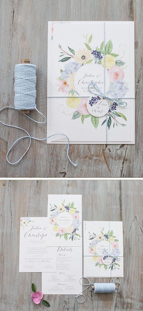 """#Hochzeitseinladungen """"symphonia"""" #blumen #flowers #weddinginvitation, online bestellbar bei www.papierhimmel.com"""