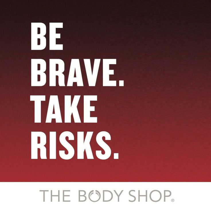 Be brave. Take risks. That's exactly what we've done. #scandalinabottle #redmusk #quote #thebodyshop