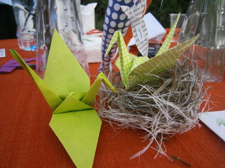 We love Origami! We sponsored free introductory classes at our local crafts fair for children and adults who love paper folding.