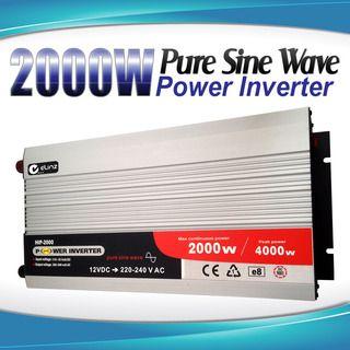 Pure Sine Wave Power Inverter 2000w / 4000w 12v - 240v AUS plug Car Boat Caravan