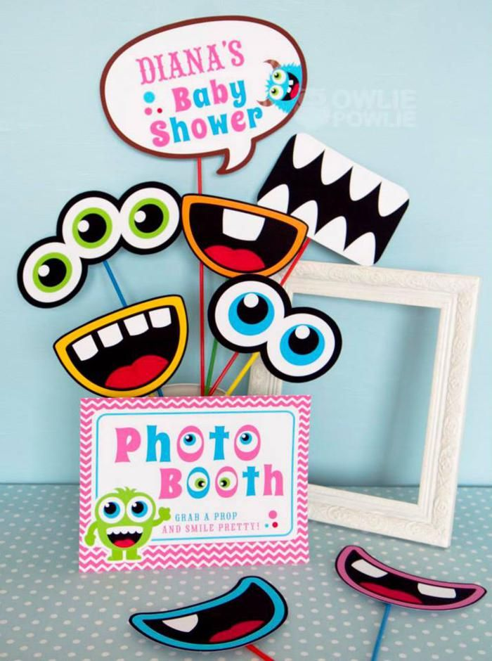 Photo Booth Idea For Some Extra Fun And Sillyness · Monster Photo  BoothsMonster Baby ShowersLittle MonstersThemed ...