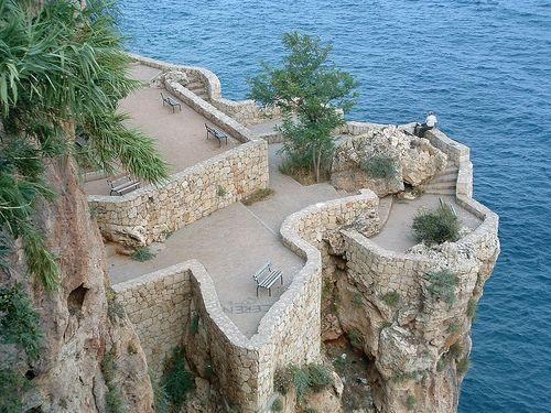 Потрясающий вид на море с Крепости Алании. Алания. Турция