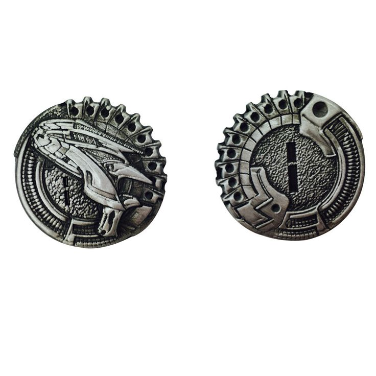 """Sci Fi """"1"""" Pack (Set of 10) Metal Adventure Coins For RPGs/ LARP