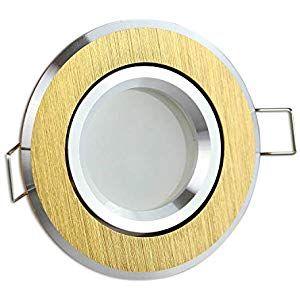 Led Einbaustrahler Gold Rund 7 Watt Warmweiss Gu10 230v