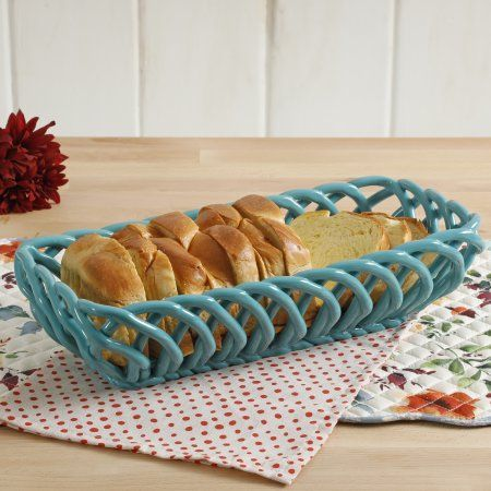 Free Shipping on orders over $35. Buy The Pioneer Woman Timeless Beauty 10.7-Inch Turquoise Bread Basket at Walmart.com