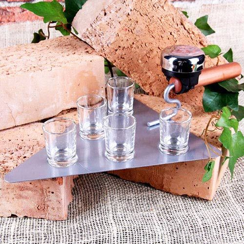 Trowel Drinking Game with 5 Shot Glasses and Buzzer - http://www.pricestretcher.com/shop/trowel-drinking-game-with-5-shot-glasses-and-buzzer/