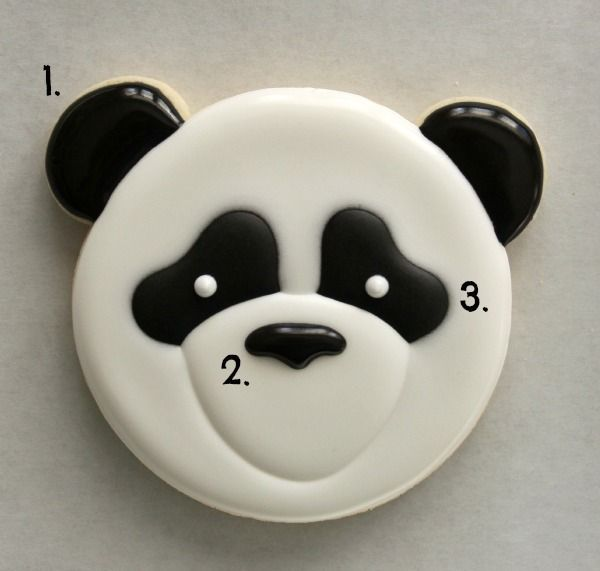 Panda Face Cookie How-to
