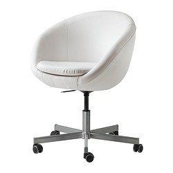 IKEA - SKRUVSTA, Chaise pivotante,  , Vissle gris, , La hauteur de la chaise est réglable et offre un grand confort d'assise.Les…