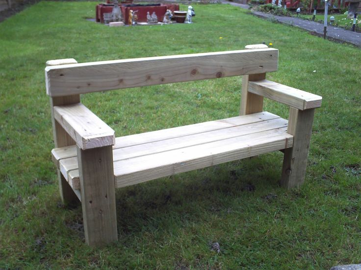 Childrens Wooden Garden Bench
