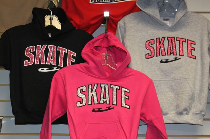 Skate GLITTER Hooded Sweatshirt - Hollywood Filane