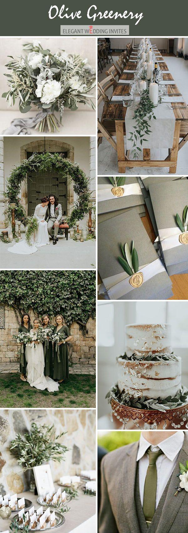 Olive green moody wedding color palete ideas #weddingideas