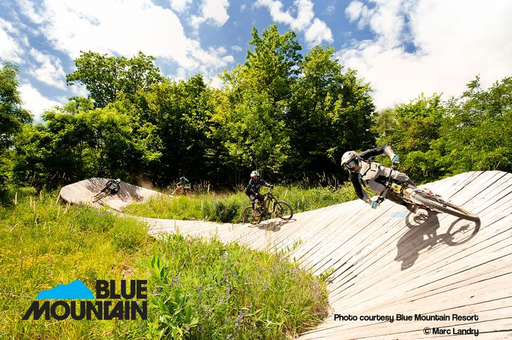 Mountain biking at Blue Mountain or on the many trails across the Escarpment.