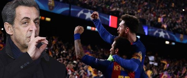 Barcelona-PSG maçında Sarkozy'i locadan attıran tezahürat