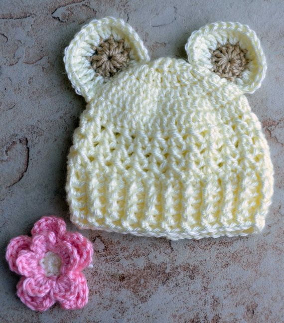 Gender neutral Newborn Crochet Hats, Gender Neutral Baby ...