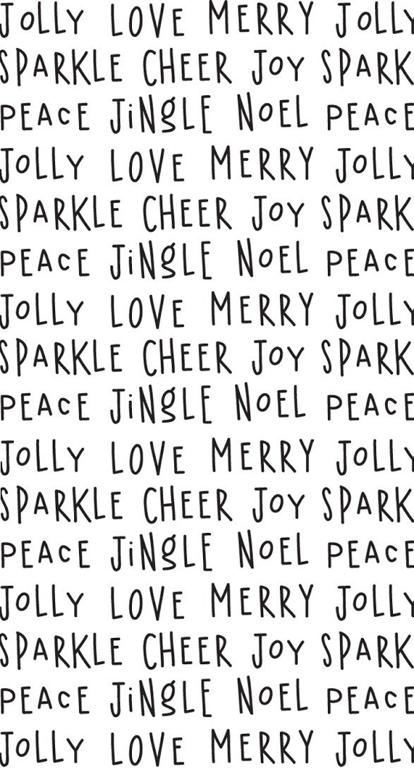 Black white Merry jolly words iphone wallpaper phone background lock screen