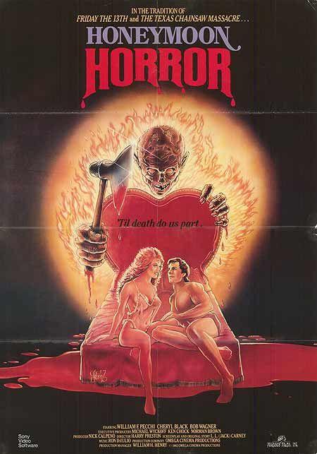 Honeymoon Horror (1982)Stars: Paul Iwanski, Bob Wagner, Cheryl Black ~  Director: Harry Preston