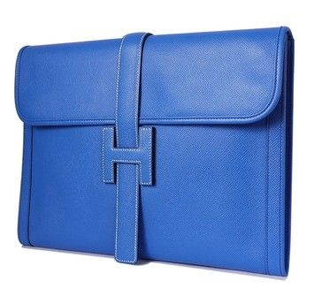 Hermes Couchevel Oversized Jige Gm Blue Clutch. Get the trendiest Clutch of the season! The Hermes Couchevel Oversized Jige Gm Blue Clutch is a top 10 member favorite on Tradesy. Save on yours before they are sold out!