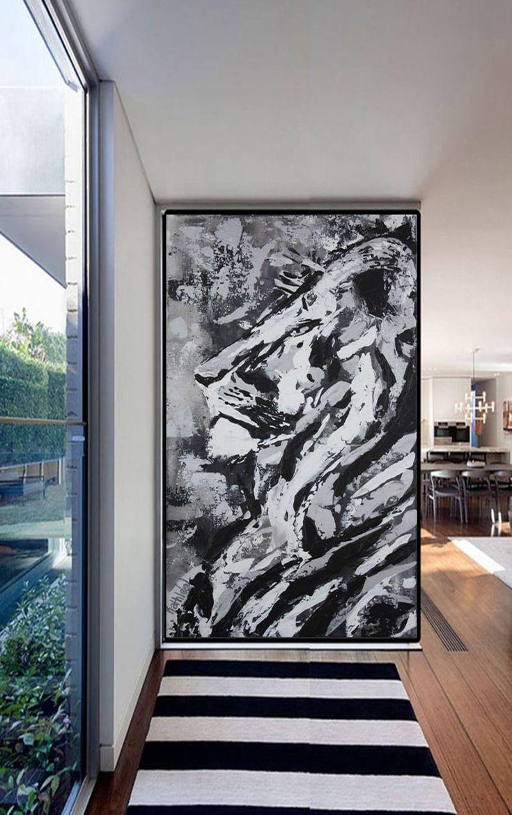 CANVAS PRINT,Lion King Print Canvas,Large Print Art,Lion Decor Modern,Lion Painting, Félin Print,Lion Cecil Art Decor by Kathleen Artist