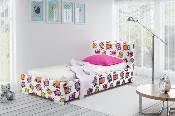 Bed for the child with the motive for non-white night owls. Your child will be enraptured! Check on mirjan24.pl Łóżko dziecięce z motywem kolorowych sów. Twoje dziecko będzie zachwycone takim łóżkiem. Sprawdź koniecznie na mirjan24.pl #bed #mirjan24 #child #kids #nightowls