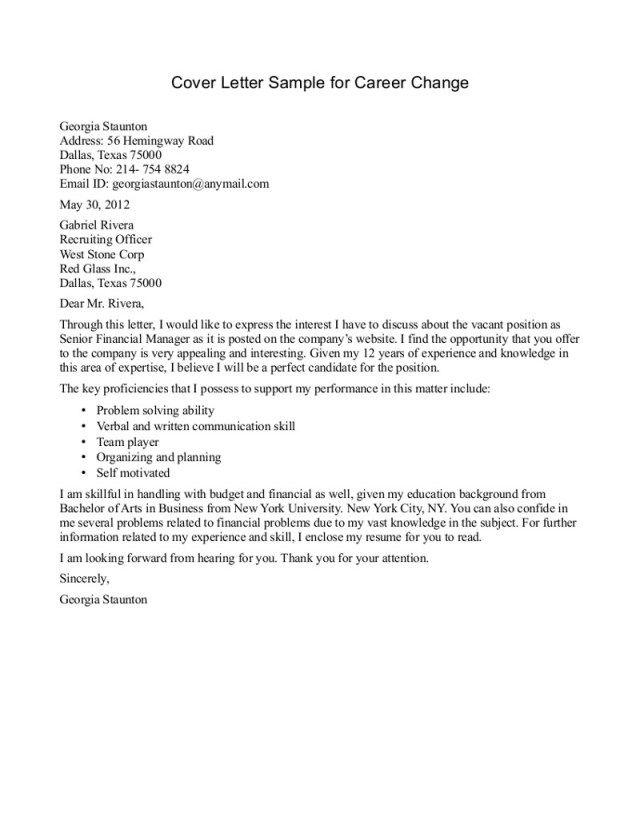 23+ Cover Letter Career Change Cover Letter Resume Cover letter