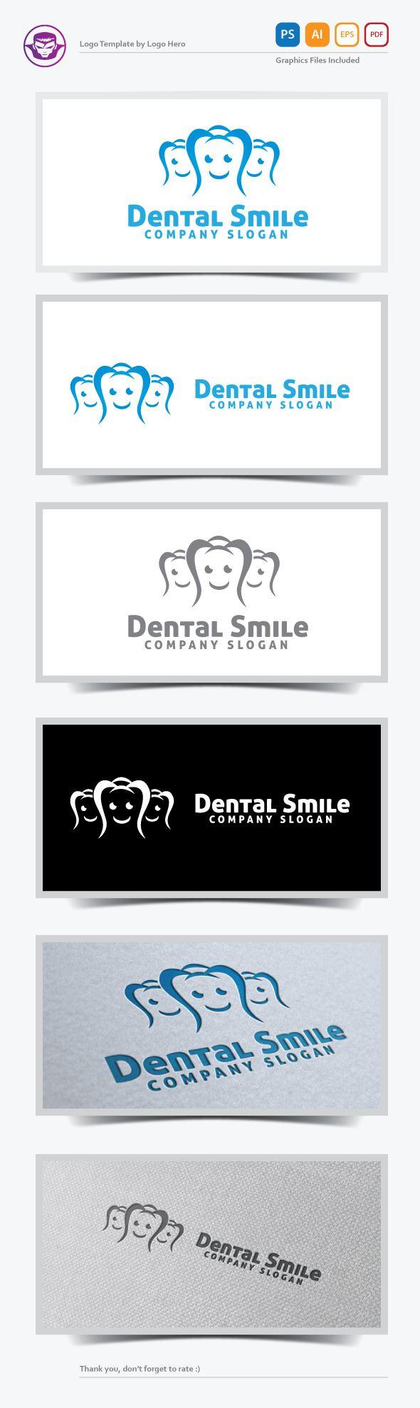 Dental Smile Logo Template - by Logo Hero - on Behance.net