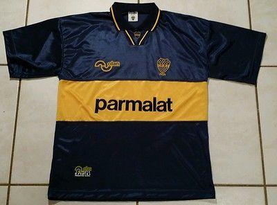 Rare Vintage OLAN Boca Juniors #10 1992-1995  Soccer Jersey Men's Large