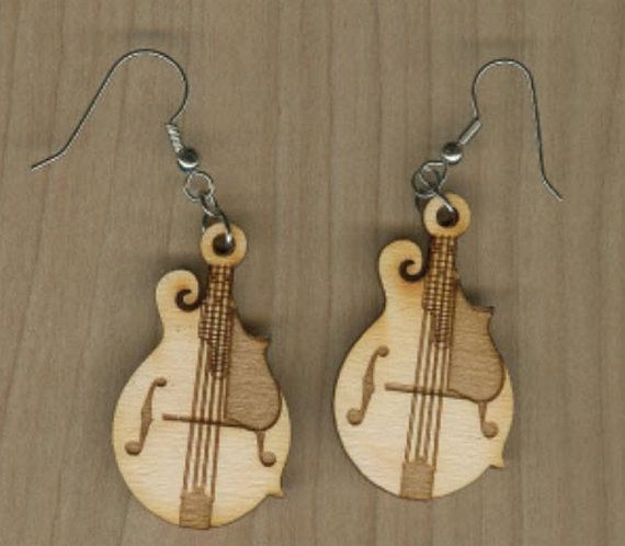 "These earrings are made from 1/8"" Birch craftsman wood.  Note: Pendants DO NOT INCLUDE CHAIN.  Contact us for International Shipping.  Crafted"