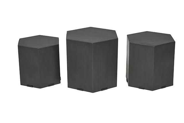 GlobeWest - Barnes Hexagon Set of 3 Tables