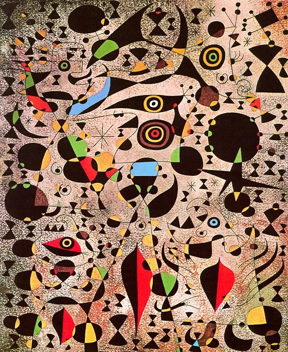 Woman Encircled by the Flight of a Bird ~ Joan Miro, c.1941