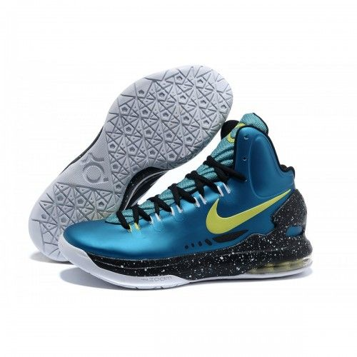 Cheap Kevin Durant Shoes Blue Yellow Black White, cheap Nike KD 5 Shoes, If  you want to look Cheap Kevin Durant Shoes Blue Yellow Black White, ...