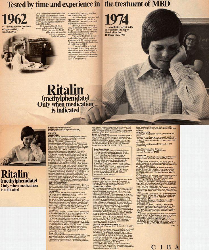 Bonkers Institute: 1966 Ritalin ad
