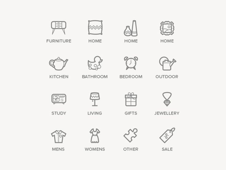 Category icons by whatkatiedoes