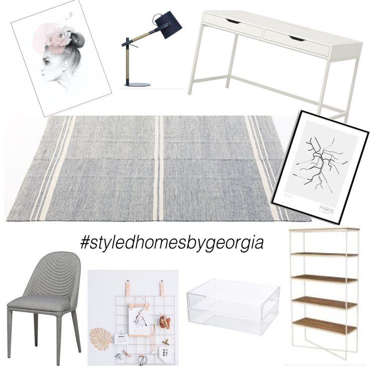 study area! #uistylistscout #moodboard #interiors #design #teens #teenstudy #propertystylist #melbournestylist #interiordecorator #styledhomesbygeorgia